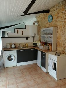kitchen in holiday accommodation