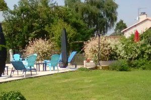 pool area at gite complex