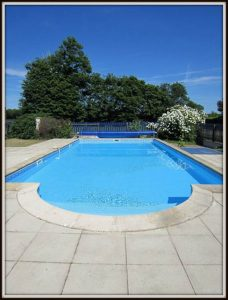 swimming pool at gite